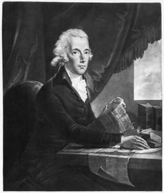"""The Right Honourable Chancellor of the Exchequer WILLIAM PITT First Lord of the Treasury"", engraving by J. G. Huck after Karl Anton Hickel. Pitt is sitting reading The Times newspaper - you can almost imagine his breakfast things pushed aside just off the picture :)"