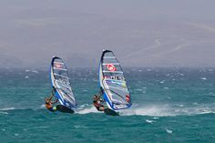 Antoine Albeau and Julien Quentel...windsurf slalom