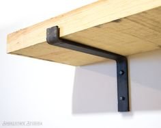 Steel Shelf Bracket  Modern Kitchen Open Shelving Iron Shelf