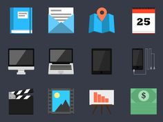 Flat Icon Set v1 by Adam Lindfors