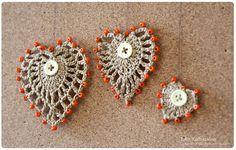 crocheted heart, pattern