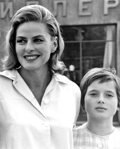 Ingrid Bergman and Isabella Rossellini