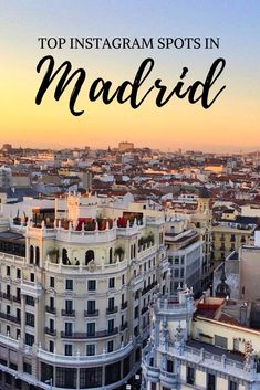 A guide to the top Instagram spots in Madrid. From scenic rooftops and narrow cobblestone streets to vintage cafés and a luscious park. The most instagrammable areas in Madrid.