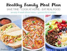 Time-Saving Healthy Family Meal Plan - Kristine's Kitchen