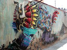 Street Art – The phantasmagorical animals by El Curiot