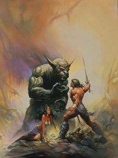 Fantasy Artist Ken Kelly paints warriors, monsters, kings and primal battlefields! Manowar Artist and painter of Kiss Destroyer and Love Gun! Dark Fantasy Art, Fantasy Artwork, Fantasy Kunst, Comic Books Art, Comic Art, Conan Der Barbar, Dragons, Savage Worlds, Frank Frazetta
