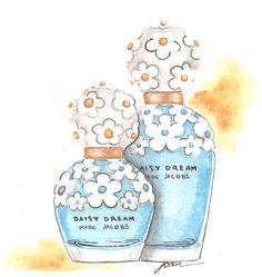 Liz Casale Illustration; Marc Jacobs Daisy Dream Fragrance #MJDAISYDREAM