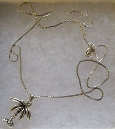 $20.00 Silver Palm Necklace (9915-1450MS) jewelry, fashion, collectibles, palms #Unbranded #Chain