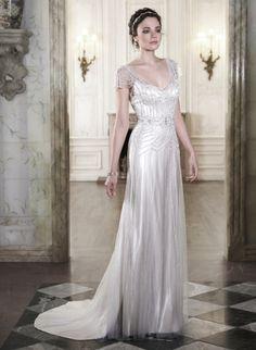 Maggie Sottero - Sølv brudekjole