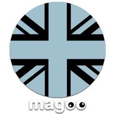 Ice Blue Union Jack Flag