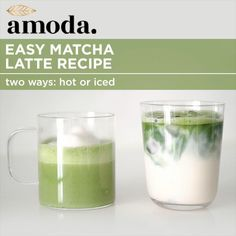 Easy Matcha Latte Recipe - - Easy Matcha Latte Recipe MACHA Cafè Make it hot or iced and enjoy the benefits of matcha right at home. Use your favourite dairy-free milk to make it vegan, and add your sweetener of choice. Weight Loss Smoothies, Healthy Smoothies, Healthy Drinks, Smoothie Recipes, Healthy Food, Nutrition Drinks, Cleanse Recipes, Healthy Lunches, Stay Healthy