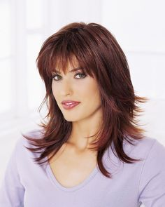 Luxury from BT Classic wigs gives you the length and the volume that you have always wanted. Try it for yourself and get it now from BeautyTrends. Medium Hair Cuts, Medium Hair Styles, Curly Hair Styles, Haircuts For Curly Hair, Haircuts With Bangs, Pixie Haircuts, Pixie Hairstyles, Medium Shaggy Hairstyles, Scarlett