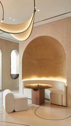 Coffee Shop Interior Design, Retro Interior Design, Beautiful Interior Design, Restaurant Interior Design, Interior Design Inspiration, Hospitality Design, Minimalist Home, Minimalist Design, Commercial Design