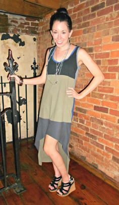 Jersey dress with old Ts