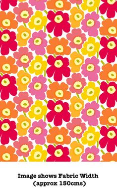 Marimekko Pieni Unikko 2 Cotton in | Pinks & Yellow 201 | Medium