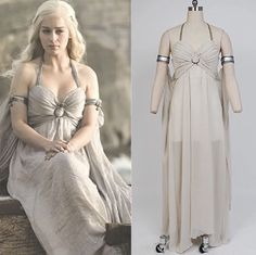 Game of Thrones Daenerys Targaryen Cosplay Costume Lng Brown Dress Sm Med Lrg XL  | eBay #gameofthrones #daenerys #costume