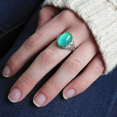 Mood Ring - Antique Silver Plated Finish,  Adjustable Cocktail Statement Wedding or Sorority Gift on Etsy, $22.00