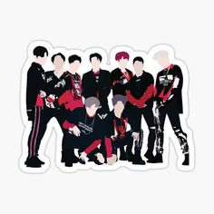 Kpop Stickers, Preppy Stickers, Red Bubble Stickers, Printable Stickers, Cute Stickers, Kpop Exo, K Pop, Exo Cartoon, Exo Monster
