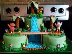 3rd Birthday party next weekend! There were so many great Dora cakes ...
