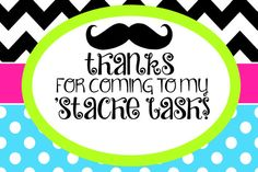 FREE Mustache Birthday Party Printables | MySunWillShine.com