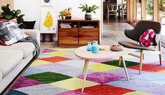 8x kleurrijke kleden op de vloer