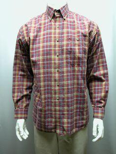 aa80333d Wrangler George Strait Cowboy Cut Collection LS Shirt Sz L Plaid Multi Color