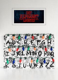 DIY Stranger Things Alphabet Lights