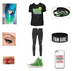 """Jacksepticeye fangirl"" by that-one-awkward-fangirl ❤ liked on Polyvore featuring Paige Denim, Converse, LORAC and NYX"