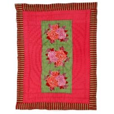 BABY QUILT 70X110  COROLLA GREEN PINK