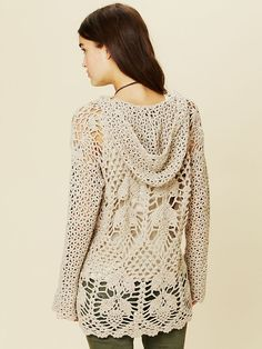 Crochet Speckled Hoodie at Free People Clothing Boutique