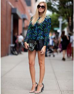 Street Style Sequins and Metallic
