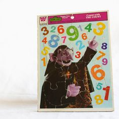 Sesame Street The Count Frame-Tray Puzzle Vintage 70's