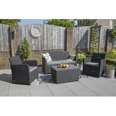 Garden Sofa Sets You'll Love | Wayfair.co.uk 5 Seater Corner Sofa, Rattan Corner Sofa, Corner Sofa Set, Rattan Sofa, Outdoor Living Areas, Outdoor Spaces, Outdoor Lounge, Outdoor Decor, Sofa Set Online