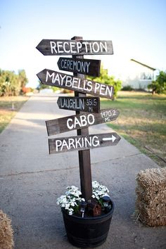 Where you heading? Wedding signs