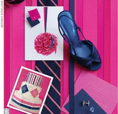Inspiration for the navy and fuchsia color scheme