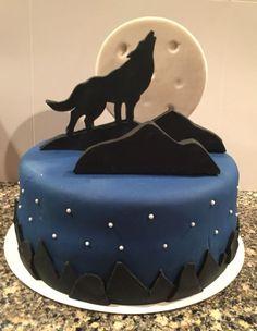 Inspired Photo of Wolf Birthday Cake Wolf Birthday Cake Wolf Cake Wolf Theme In 2018 Happy Birthday Wolf, Fun Cupcakes, Cupcake Cakes, Wolf Cake, 60th Birthday Cakes, Animal Cakes, Zucchini Cake, Just Cakes, Halloween Cakes