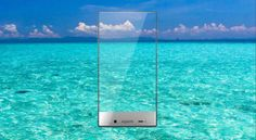 "Frame less smart phone ""AQUOS CRYSTAL"""