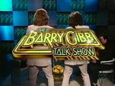 Talkin' it up! On The Barry Gibb talk show!