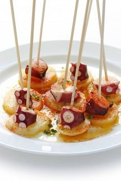 Octopus Galician style Tapas a classic #Alabrino pairing #Spain #Wine