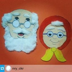 Kinderboekenweek 2016, opa en oma knutselen Grandparent's day craft idea for kids                                                                                                                                                      More