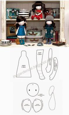 Słodko-Gorzka Kropka: Jak uszyć lalkę -szablony!