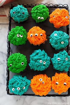 Monster Cupcakes from thelittlekitchen.net @TheLittleKitchn