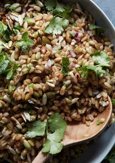 This healthy grain salad is made with seeds, nuts, and Thai flavors.