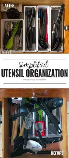 c3a2e72bd225f8 No brainer kitchen utensil drawer organization method. Seriously