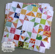 Sew Block Quilt Lovely block including a quick technique for trimming half square triangles with any ruler Star Quilts, Scrappy Quilts, Mini Quilts, Quilting Tutorials, Quilting Projects, Quilting Designs, Quilting Ideas, Half Square Triangle Quilts, Square Quilt
