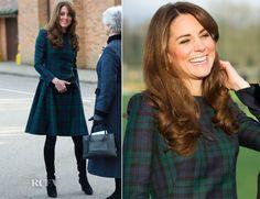 Catherine, Duchess of Cambridge In Alexander McQueen – St Andrews School Visit