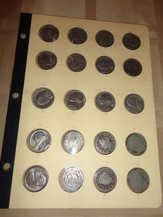 Vintage Lot of 20 assorted Nickel 5 cent coins money with holder 1888-1985 find me at www.dandeepop.com