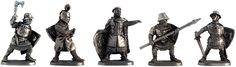Knights Crusaders, XIII century; 40 mm