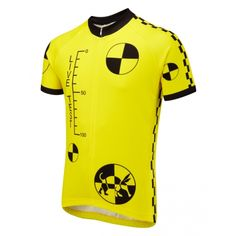Test Dummy Road Cycling Jersey  Don't be a dummy. Make sure you are seen on your bike and bring a smile to the motorists face with this Test Dummy design.