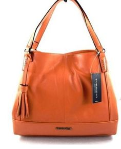 Tignanello Purse Urban Casual SHOPPER Handbag Orange  dd5f3648cf14b